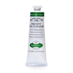 Winsor & Newton Artists' Oil Colors, 37 mL, Permanent Green, 481