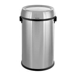 Alpine Stainless Steel Trash Can, 17 Gallon, Swing Lid, Stainless Steel