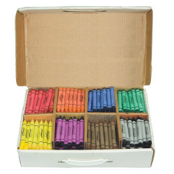 Prang® Large-Size Crayons In Master Packs, Assorted Colors, Box Of 400
