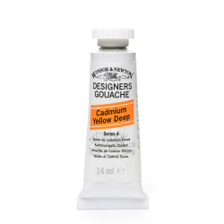Winsor & Newton Designers' Gouache, 14 mL, Cadmium Yellow Deep, 111
