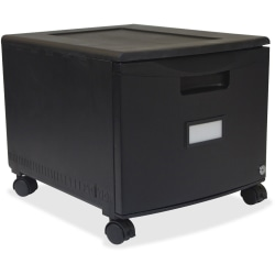 "Storex 12-7/8""D Vertical 1-Drawer File Cabinet, Metal, Black"