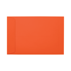 "LUX Open-End Envelopes With Peel & Press Closure, #6 1/2, 6"" x 9"", Tangerine, Pack Of 1,000"