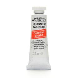 Winsor & Newton Designers' Gouache, 14 mL, Cadmium Scarlet, 106