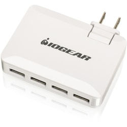 IOGEAR® GearPower QuadSmart USB 4.2A Wall Charger