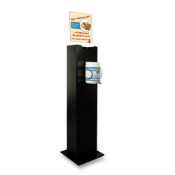 Buddy 30% Recycled Hand Wipe Station, Black