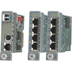Omnitron Systems iConverter TM3 Transport Module - Optical Fiber, Twisted Pair - Gigabit Ethernet - 1 Gbit/s - 1 x RJ-45