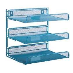 Honey-Can-Do 3-Tier Mesh Desk Organizer, 13.25 in L x 10.75 in W, and at 12.5 in H, Blue