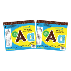 """Barker Creek Letter Pop-Outs, 4"""", Hot To Dot, Pack Of 510"""
