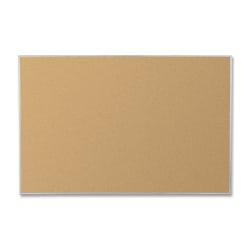 "Best Rite® Corkboard, 72"" x 48"", 40% Recycled, Silver Aluminum Frame"