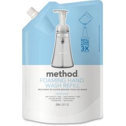 Method Sweet Water Foam Hand Wash Refill - Sweet Water Scent - 28 fl oz (828.1 mL) - Hand - Clear - Triclosan-free - 6 / Carton