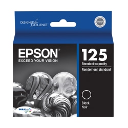 Epson® 125, (T125120) DuraBrite® Ultra Black Ink Cartridge