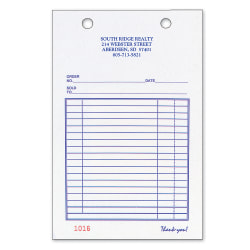 """Custom Carbonless Business Forms, Pre-Formatted, All Purpose Forms, 4"""" x 6-1/2"""", 3-Part, Box of 250"""