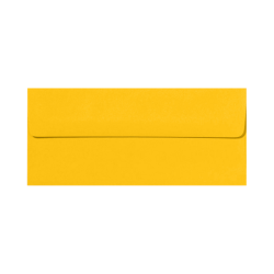 """LUX Envelopes With Peel & Press Closure, #10, 4 1/8"""" x 9 1/2"""", Sunflower Yellow, Pack Of 50"""