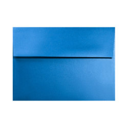 """LUX Invitation Envelopes With Moisture Closure, A2, 4 3/8"""" x 5 3/4"""", Boutique Blue, Pack Of 50"""