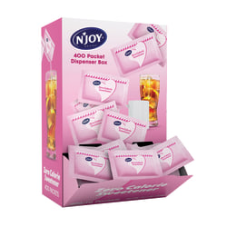 N'Joy® Saccharine Packets With Dispenser, Pink, Box Of 400