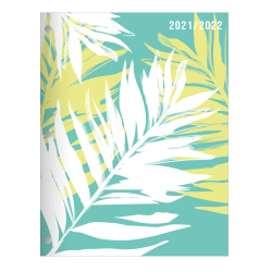 """Office Depot® Brand Fashion Monthly Academic Planner, 8-1/4"""" x 10-3/4"""", Tropical Techtopia, July 2021 To June 2022, DX200580-007"""