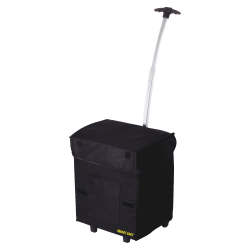 "dbest Smart Cart Polyester Folding Utility Cart With Extendable Handle, 18 7/8""H x 13""W x 4 1/2""D, Black"