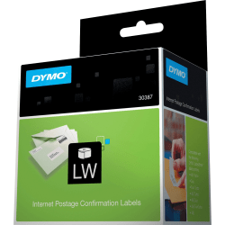 "DYMO® Internet Postage Labels, DYM30387, 2 5/16""W x 10""L, White, Roll of 100"