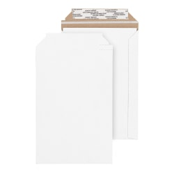 """Office Depot® Brand White Chipboard Photo And Document Mailer, 100% Recycled, 5 3/4"""" x 8 1/2"""", Pack Of 24"""