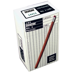 Dixon® Pencils, #2 Soft Lead, Box Of 144