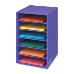 "Bankers Box® 60% Recycled Shelf Organizer, 18""H x 12""W x 13 3/10""D, Purple"