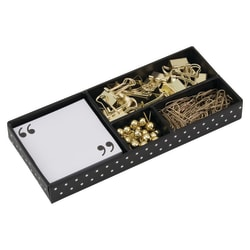 See Jane Work® Supply Box, Black Dot/Gold