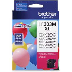 Brother Genuine Innobella LC203M High Yield Magenta Ink Cartridge - Inkjet - High Yield - 550 Pages - Magenta - 1 Each