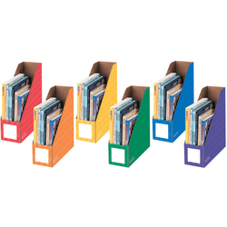 """Bankers Box® Magazine Holders, 11""""H x 12 1/4""""W x 4""""D, Assorted Colors, Pack Of 6"""