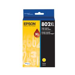 Epson® 802XL DuraBrite® Ultra High-Yield Yellow Ink Cartridge, T802XL420-S