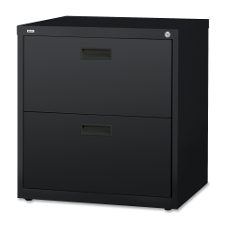 "Lorell® 30""W Lateral 2-Drawer File Cabinet, Metal, Black"