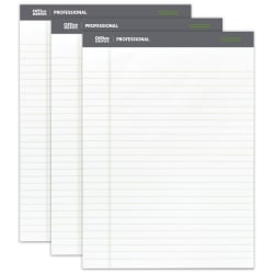 "Office Depot® Brand Sugar Cane Paper Perforated Pads, 8 1/2"" x 11 3/4"", White, Pack Of 3"