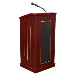 Oklahoma Sound? Prestige Sound Lectern With Wireless Headset Microphone, Mahogany