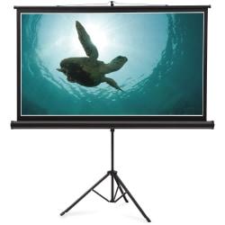 """Quartet® Wide Format Projection Screen, 16:9 Aspect Ratio, 52"""" x 92"""", Tripod Base - 16:9 - Matte White - 52"""" x 92"""" - Surface Mount"""