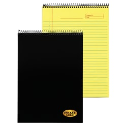 "TOPS™ Docket Gold™ Wirebound Writing Tablet, 8 1/2"" x 11"", 70 Sheets, Canary"
