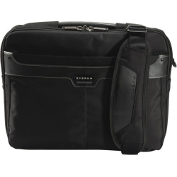 "Everki Tempo Carrying Case (Briefcase) for 13.3"" MacBook Air - Black - Leather, Nylon, Felt Interior - Checkpoint Friendly - Handle, Shoulder Strap - 11.8"" Height x 15.8"" Width x 3.2"" Depth"