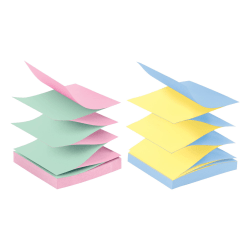 """Post-it® Pop-up Notes, 3"""" x 3"""", Marseille Color Collection, 90 Sheets Per Pad, Pack Of 12 Pads"""