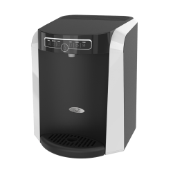 "Oasis Aquarius Plumbed Hot/Cold Countertop Water Cooler, 16 15/16""H x 13 1/4""W x 14 1/2""D, Black/Silver"