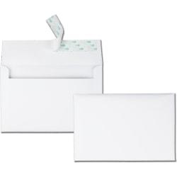 "Quality Park® Redi-Strip® Invitation And Greeting Card Envelopes, 5 3/4"" x 8 3/4"", White, Box Of 100"