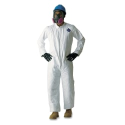 DuPont™ Tyvek® TY120S Protective Overalls, 2XL, White, Carton Of 25