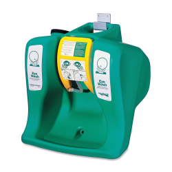 R3® Safety Self-Contained Gravity-Flow Eyewash Unit, 16-Gallon, Green