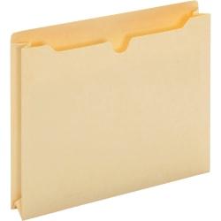 "Pendaflex Letter Recycled File Jacket - 8 1/2"" x 11"" - 500 Sheet Capacity - 2"" Expansion - Top Tab Location - Manila - Manila - 100% - 50 / Box"