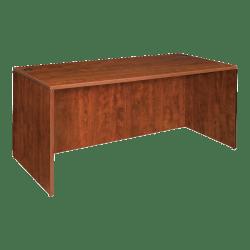 """Lorell® Essentials Series Rectangular Shell Desk, 48""""W x 24""""D, Cherry"""