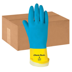 MCR Safety Chem-Tech Latex Gloves, Large, Box Of 12