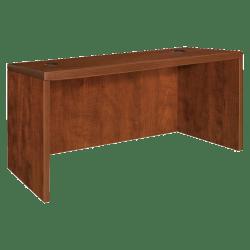 """Lorell® Essentials Series Rectangular Shell Desk, 48""""W x 30""""D, Cherry"""
