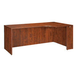 "Lorell® Essentials Series Corner Credenza Shell Desk, Right, 72""W, Cherry"
