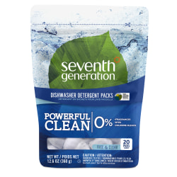 Seventh Generation™ Automatic Dishwashing Detergent Concentrated Packs, 14.1 Oz Bottle, Case Of 20