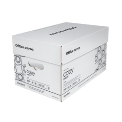 """Office Depot® White Copy Paper, Letter Size (8 1/2"""" x 11""""), 20 Lb, Ream Of 500 Sheets, Case Of 10 Reams"""