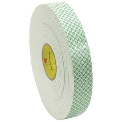 "3M™ Medium-Duty Double-Sided Foam Tape, 3"" Core, 1"" x 108', Natural"