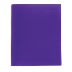 Office Depot® Brand 2-Pocket Poly Folder with Prongs, Letter Size, Purple