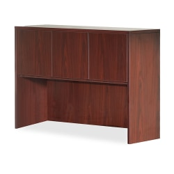 "Lorell® Essentials Series Hutch, 60""W, Mahogany"